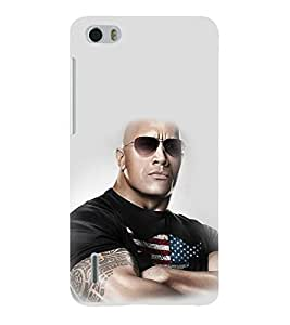 printtech WWE The Rock Back Case Cover for Huawei Honor 6