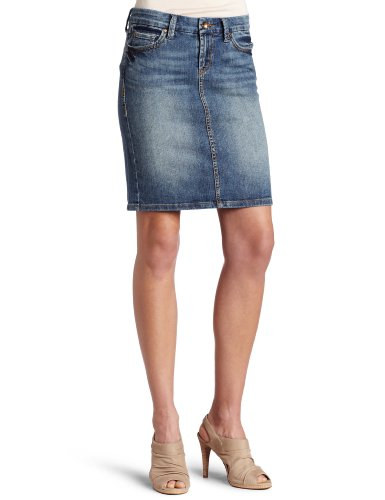 !iT Jeans Juniors Basic Knee Denim Skirt