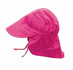 i play. Solid Flap Sun Protection Hat, Hot Pink, 9-18 Months