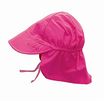 Iplay Baby Infant Toddler Unisex Solid Color Flap Sun Hat / Beach Hat by Iplay - Hot Pink - 0-6 Mths