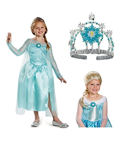 Disney's Frozen Princess Elsa Snow Queen Girls Costume Kit