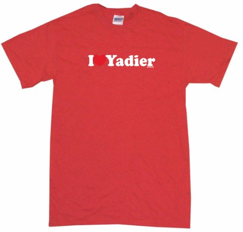 I Heart Love Yadier Women's Tee Shirt Medium-Red-Regular at Amazon.com