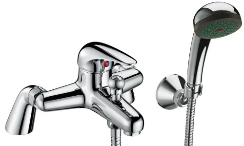 STUDIO BATHROOM BATH SHOWER MIXER TAP WITH HANDHELD SHOWER CHROME SOLID BRASS