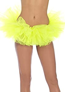 Leg Avenue Women's Organza Tutu, Neon Yellow, One Size