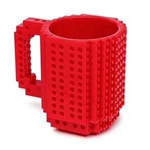 Build-On Brick Mug Red 12 Oz Coffee Mug by ThinkGeek
