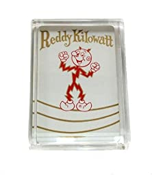 Reddy Kilowatt Acrylic Executive Desk Top Paperweight