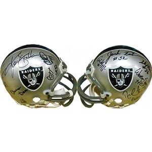 Oakland Raiders Hall of Famers and Greats Autographed Oakland Raiders Mini Helmet -...