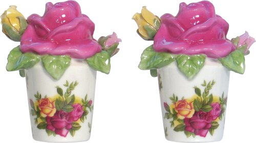 Royal Albert Old Country Roses Sculpted Rose Salt and Pepper Shakers - Buy Royal Albert Old Country Roses Sculpted Rose Salt and Pepper Shakers - Purchase Royal Albert Old Country Roses Sculpted Rose Salt and Pepper Shakers (Royal, Home & Garden, Categories, Kitchen & Dining, Cook's Tools & Gadgets, Tool & Gadget Sets)