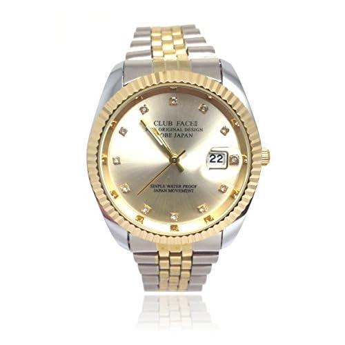 高級感抜群!!ゴージャス文字盤腕時計 メンズウォッチ クラブフェイスⅡ ビジネス カジュアル 腕時計 オリジナルボックス セット 学生 社会人 プレゼントにも♪[Nexus] (ホワイト)