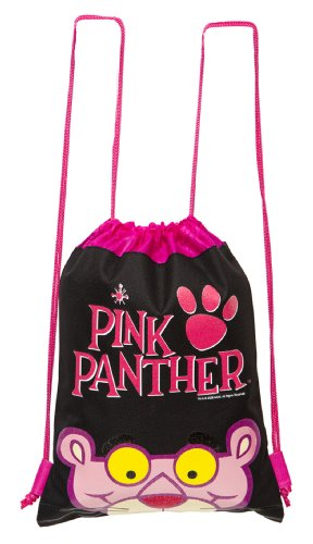 Pink Panther Black Drawstring Backpack