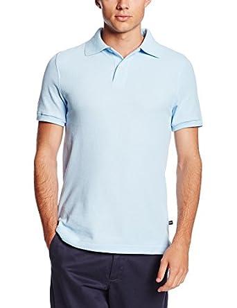 Lee Uniforms Men's Short Sleeve Polo, Light Blue, Small