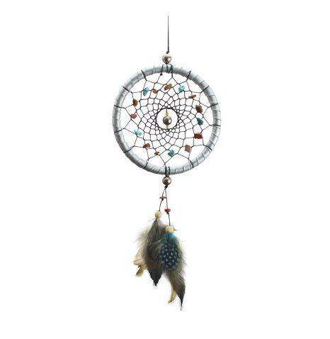 LifeUp Sogni d'oro- Acchiappasogni con Piume Sogni d'oro,Decorazione Auto Casa Giardino, Dream Catcher Indiano Rosa 42*11cm