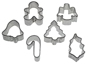 Wilton Holiday 6-Piece Mini Metal Cutter Set
