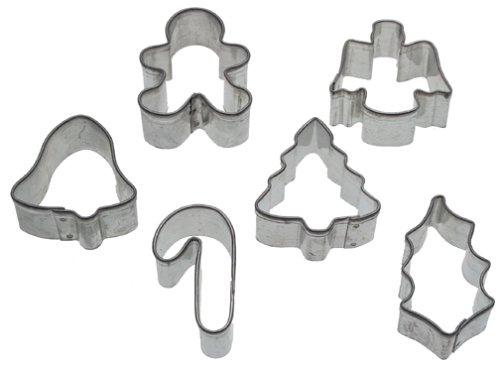 6-Piece Mini Metal Holiday Cookie Cutter
