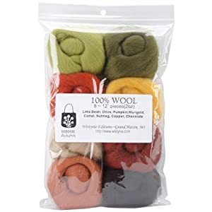 "Ultra Fine 12"" Wool Roving 8-Pack: Autumn 2 Oz."