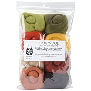 "Ultra Fine 12"" Wool Roving 8-Pack: Autumn 2 Oz."