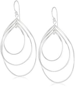 Argento Vivo Sterling Silver High Polished Open Triple Spiral Earrings