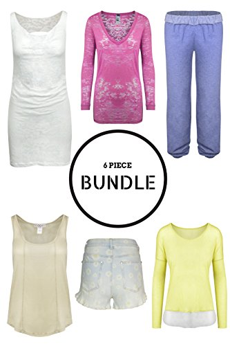 Bundles for Women - Clothing Clearance Value Box of 6 Items (Large)