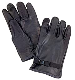 Rothco Leather D3-A Type Gloves, Black, 2 Size