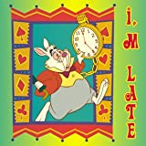 Alice in Wonderland Rabbit I'm Late Button B-DIS-0159