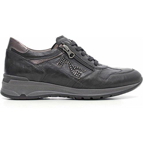 Sneakers Nero Giardini a616055d Stringate basse Donna Nero autunno inverno 2017, EU 39