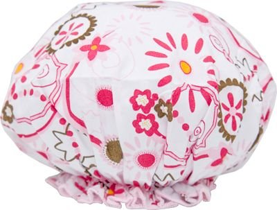 Spa Sister Bouffant Shower Cap, Belleza Print.
