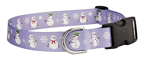 [Country Brook PetzTM Snowman Feather Weight Deluxe Dog Collar - Small] (National Costume Of All Countries)