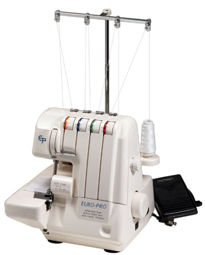 Euro-Pro 534 DX Serger with 6 Creative Feet and Soft Portable Case