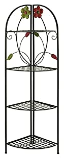 Deco 79 63066 Metal Corner Rack, 22 by 64-Inch