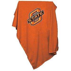 Oklahoma State Cowboys NCAA Sweatshirt Blanket Throw by Logo Chair