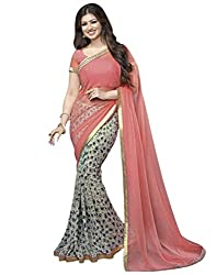 Vastram Online Shop Women's Georgette Saree (04_Multicolor)