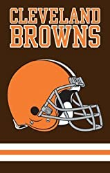 Cleveland Browns Applique Embroidered Banner Flag 44&quot;x28&quot; NFL Football Fan Shop Sports Team Merchandise