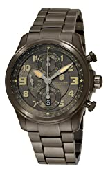 Victorinox Swiss Army Men's 251460 Infantry Vintage Chrono Mechanical Black Chronograph Dial Watch by Victorinox Swiss Army