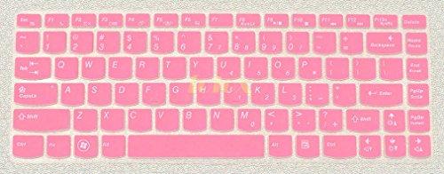 Folox Soft Silicone Keyboard Protector Cover Skin For Lenovo Ideapad Y400 Y400N Y410 Y410P Y430P Y470 Y471 Y480 Y485 Z360 Z370 Z380 Z410 Z460 Z465 Z470 Z475 Z480 Z485 Flex 14 (Pink)