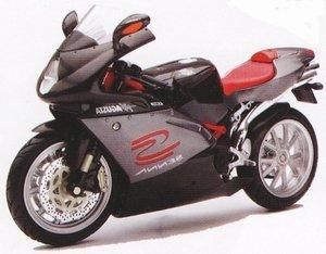 2006 MV Agusta F4 Senna Gray Bike Motorcycle 1/12 by New Ray 42657