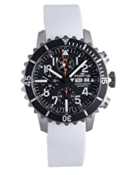 Fortis Men's 671.10.41 SI.02 B-42 Marinemaster Automatic White Rubber Chronograph Date Watch