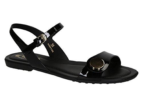 Sandali bassi Tod's donna in pelle lucida nero - Codice modello: XXW0OV0M670OW0B999 - Taglia: 36 IT