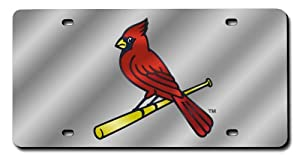 MLB St. Louis Cardinals License Plate Cover (Silver) by Rico