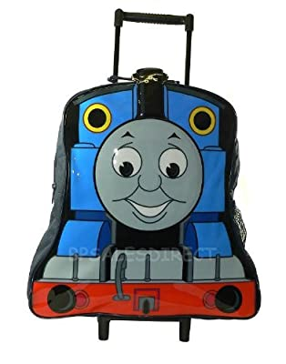 Thomas the Tank Engine Kids Wheeled Bag Trolley Case Suitcase Luggage - 1117