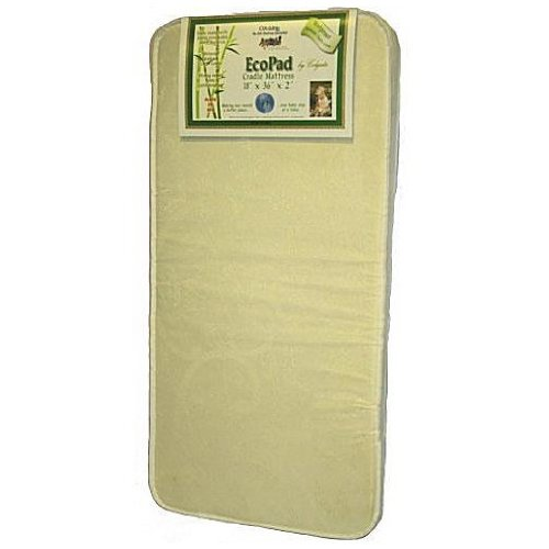 "Colgate Cradletyme Naturals Ecopad Cradle Mattress - 18"" X 36"" X 2"" front-432895"