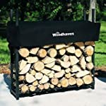 The Woodhaven 3-ft Firewood Log Rack...