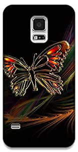 The Racoon Grip The Butterfly hard plastic printed back case / cover for Samsung Galaxy S5