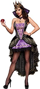 InCharacter Costumes Evil Queen, Black/Purple, Small