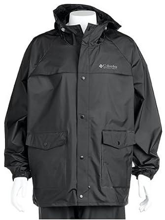 Columbia Sportswear Ibex Rain Parka for Men - 4X - BLACK