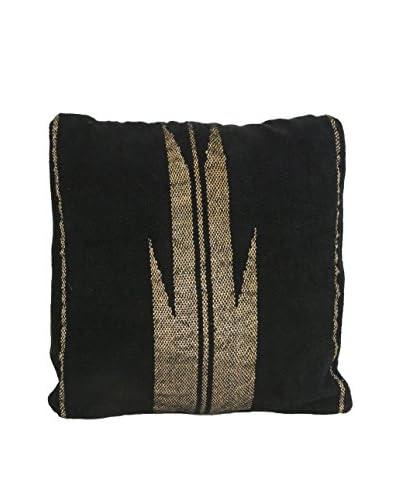 Aviva Stanoff Metallic Yarn Floor Cushion, Black
