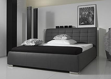 Polsterbett Ehebett Doppelbett 2741050000 grau 180 x 200 cm Kunstleder