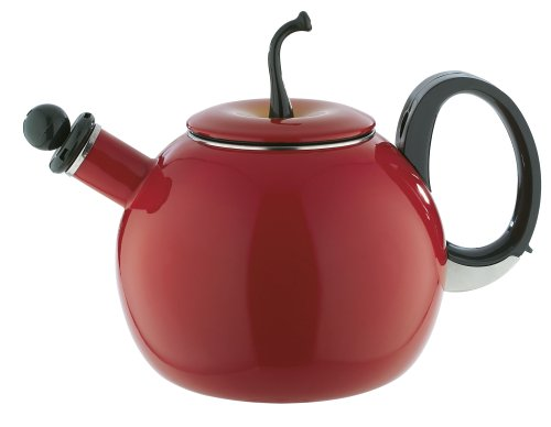 Copco Red Delicious Apple 2-1/2-Quart Enamel-On-Steel Teakettle
