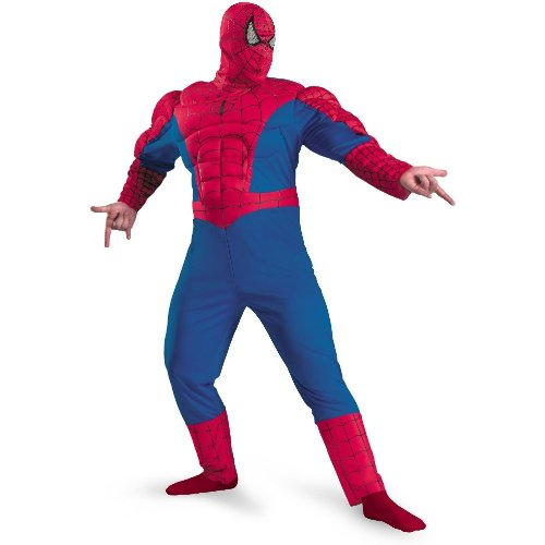 Spider-Man Classic Muscle Costume - XX-Large - Chest Size 50-52