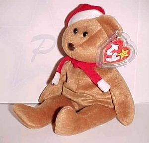 1997 Ty Christmas Teddy Bear Beanie Baby (babie) - 1