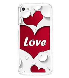 Heart Love 2D Hard Polycarbonate Designer Back Case Cover for Apple iPhone 5C